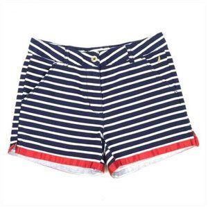 Nautica Navy White Striped Shorts Size 10